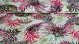 Linnen Viscose Plants Fuchsia_