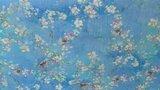 Linnen Viscose Digital Flower&Bird Light Blue_