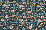 GOTS Cotton Jersey Digital Flowers Navy 1_