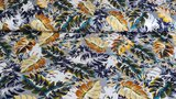 Viscose Jersey Tropical Flowers Grey_