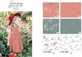 Cotton Jersey Little Feathers Orange/Coral_