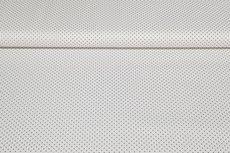 Katoen Stipjes Grijs op Wit