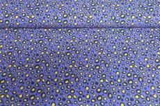 Katoenen Tricot Animal Blauw Geel