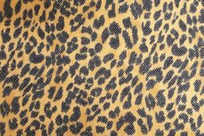 Rekbare Animal Print Geel