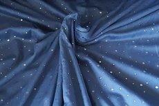 Velours Stippen Donker Blauw