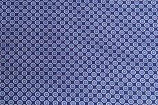 Katoen Cirkels Donker-Blauw Positief
