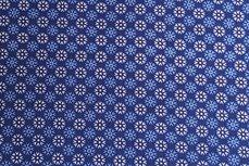 Katoen Sneeuw-Ster Donker-Blauw Positief