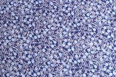 Katoen Bloem Donker-Blauw Positief