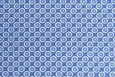 Katoen Cirkels Jeans-Blauw Positief
