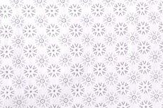 Katoen Sneeuw-Ster Grijs Negatief