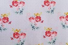 Katoen Charming Roses Licht Grijs