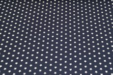 Katoen Stars Donker Blauw