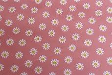 Katoen Daisy Oud donker roze