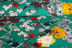 Scuba Flowers Green
