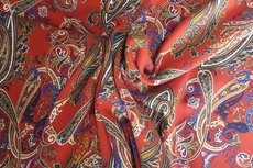 Tencel Paisley Orange