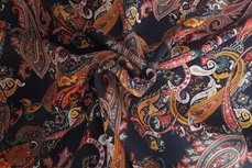 Tencel Paisley Dark Blue