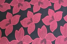 Viscose Jersey Red Flowers