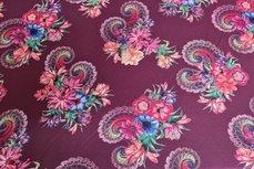 Viscose Jersey Paisley Flowers