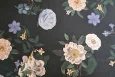 Tencel Flowers Black
