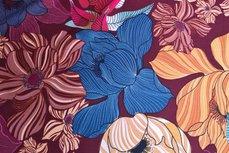 Scuba Flowers Bordeaux