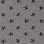 French Terry Stars Middle Grey