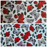 Cotton Jersey Sun Magic Butterflies & Roses