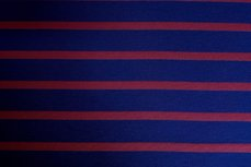 Viscose Jersey Stripes Blue Red