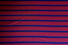 Viscose Jersey Stripes Red Blue