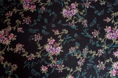 Viscose Jersey Little Flowers Black