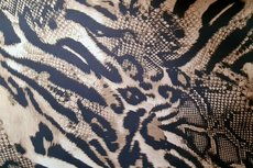 Cotton Stretch Satin Tigers Taupe Brown