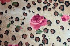 Cotton Jersey Digital Flowers Panter Creme