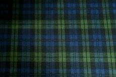 Scottish Stretch Check Green Blue