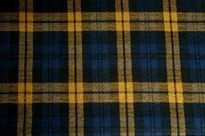 Scottish Stretch Check Yellow Blue