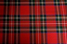 Scottish Stretch Big Check Red