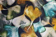 Cotton Jersey Digital Flowers Olive Green