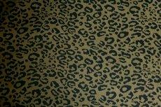 Jacquard Jersey Cheetah Dark Green
