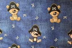 Cotton Jersey Pirate Bear & Monkey Indigo jeanslook