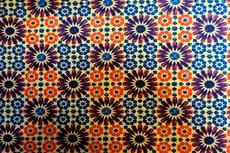 Cotton Jersey Mozaik Oker