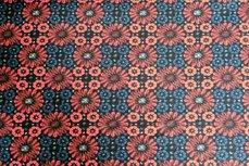 Cotton Jersey Mozaik Black/Red