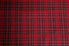 Scottish Stretch Little Check Red