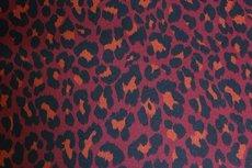 Knitted Leopard Dark Red