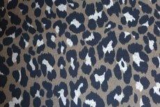 Knitted Leopard Dark Olijf