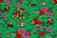"""GOTS Cotton Jersey Sweet Animals Green """"Digital"""""""
