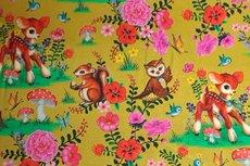 "GOTS Cotton Jersey Sweet Animals Yellow ""Digital"""