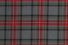 Scottish Stretch Big Check Grey Red