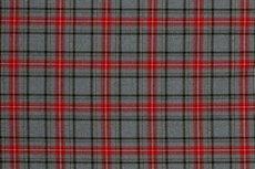 Scottish Stretch Check  Grey Red
