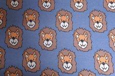 Cotton Jacquard Lion Blue