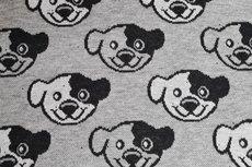 Cotton Jacquard Dogs Grey