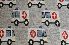 Cotton Jacquard Ambulance Grey/Beige