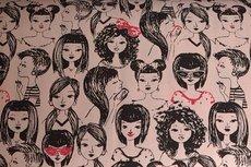 Cotton Jersey Girl Talk Pink Melange